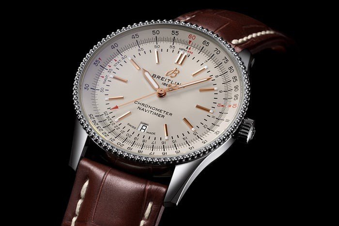 The Navitimer is suitable for men who have thin wrists.
