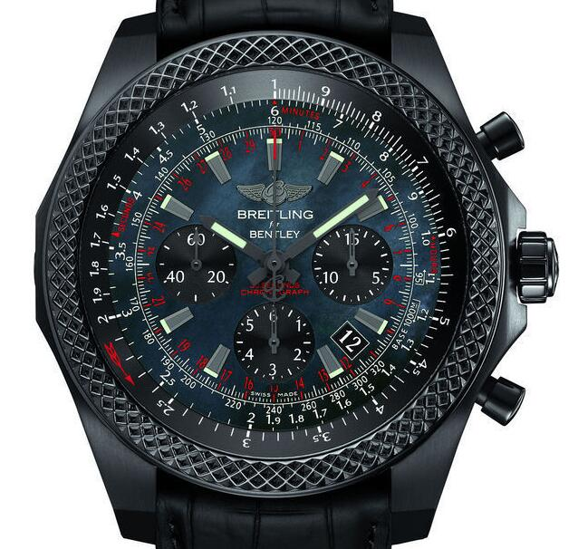 The all-black Breitling Bentley looks very cool and eye-catching.