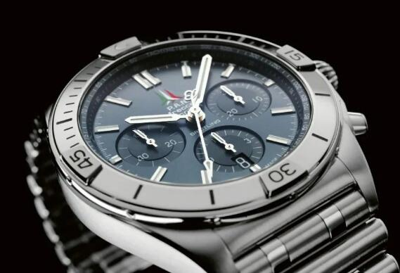 The logo at 12 o'clock takes the place of the logo of Breitling.