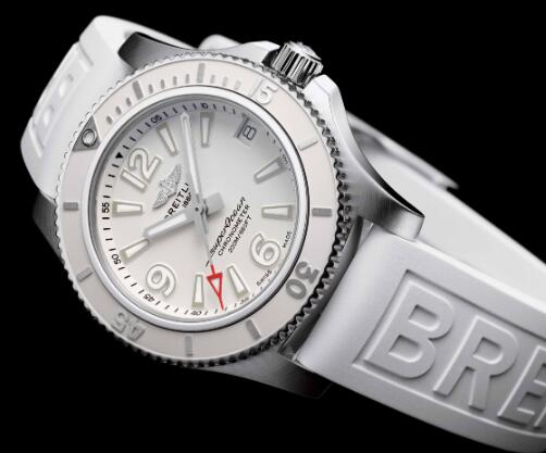 The white Breitling Superocean looks pure and eye-catching.