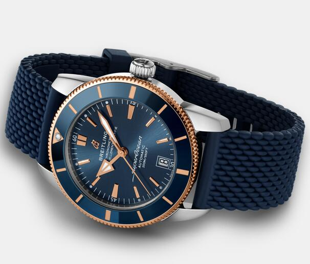 Best fake watches are decorated with blue color and red gold elements.