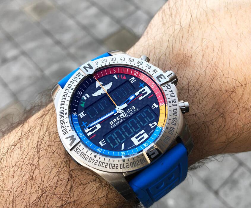 Swiss made fake watches are hale with 46mm cases.
