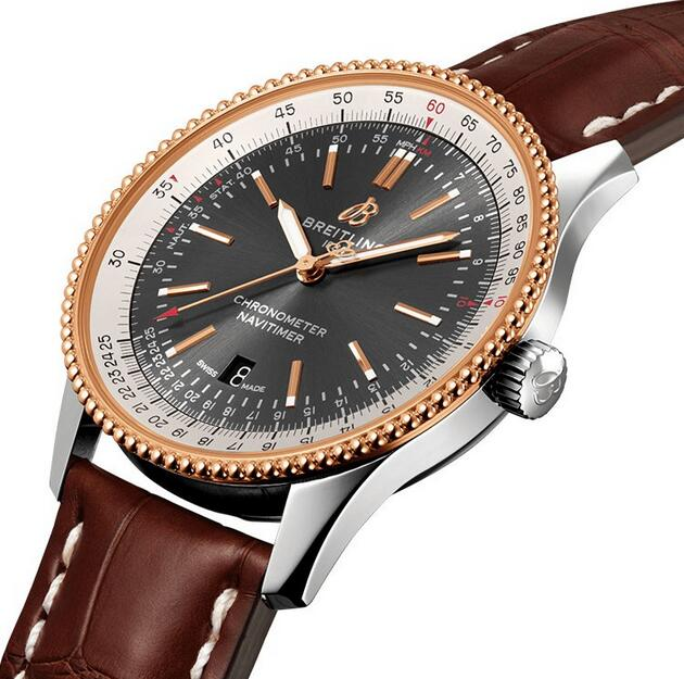 Swiss fake watches are delicate with leather straps.
